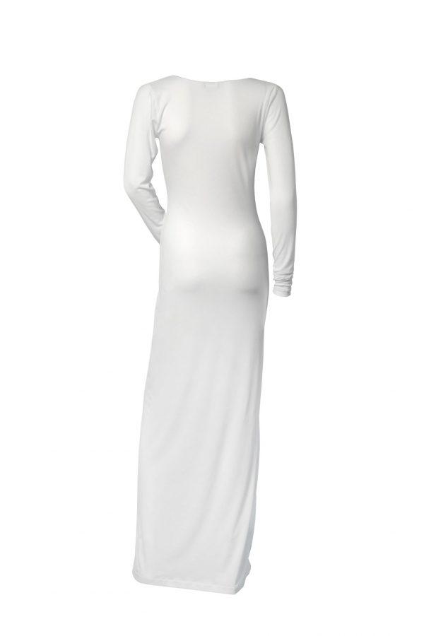 Vestito lungo Fuori Acqua Bianco Retro
